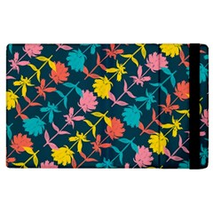 Colorful Floral Pattern Apple Ipad 2 Flip Case