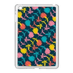 Colorful Floral Pattern Apple iPad Mini Case (White)