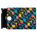 Colorful Floral Pattern Apple iPad 2 Flip 360 Case Front