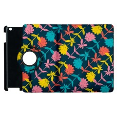 Colorful Floral Pattern Apple iPad 3/4 Flip 360 Case