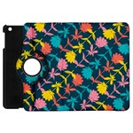 Colorful Floral Pattern Apple iPad Mini Flip 360 Case Front