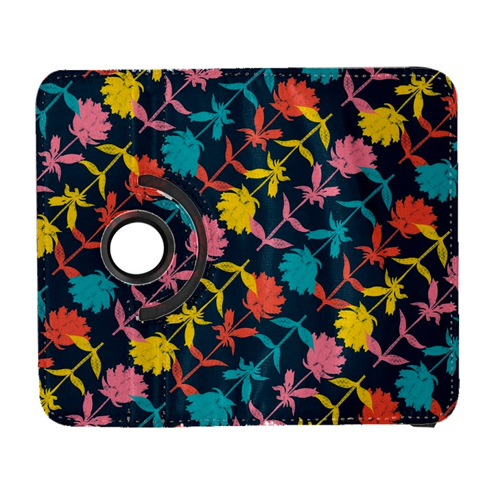 Colorful Floral Pattern Samsung Galaxy S  III Flip 360 Case