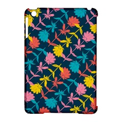 Colorful Floral Pattern Apple Ipad Mini Hardshell Case (compatible With Smart Cover)