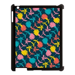 Colorful Floral Pattern Apple Ipad 3/4 Case (black) by DanaeStudio