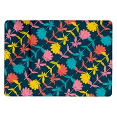 Colorful Floral Pattern Samsung Galaxy Tab 10 1  P7500 Flip Case