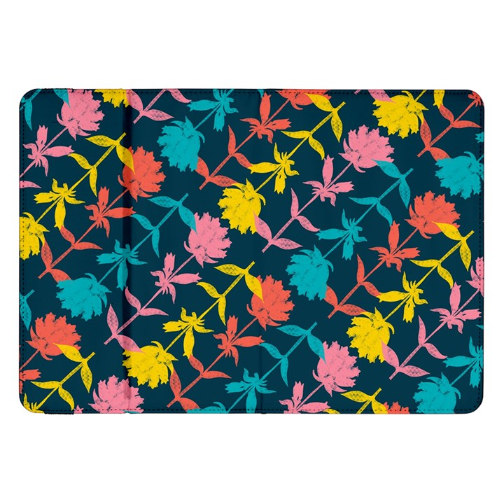 Colorful Floral Pattern Samsung Galaxy Tab 8.9  P7300 Flip Case