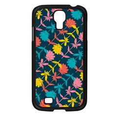 Colorful Floral Pattern Samsung Galaxy S4 I9500/ I9505 Case (black) by DanaeStudio
