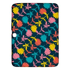 Colorful Floral Pattern Samsung Galaxy Tab 3 (10.1 ) P5200 Hardshell Case