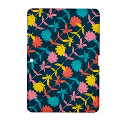 Colorful Floral Pattern Samsung Galaxy Tab 2 (10 1 ) P5100 Hardshell Case