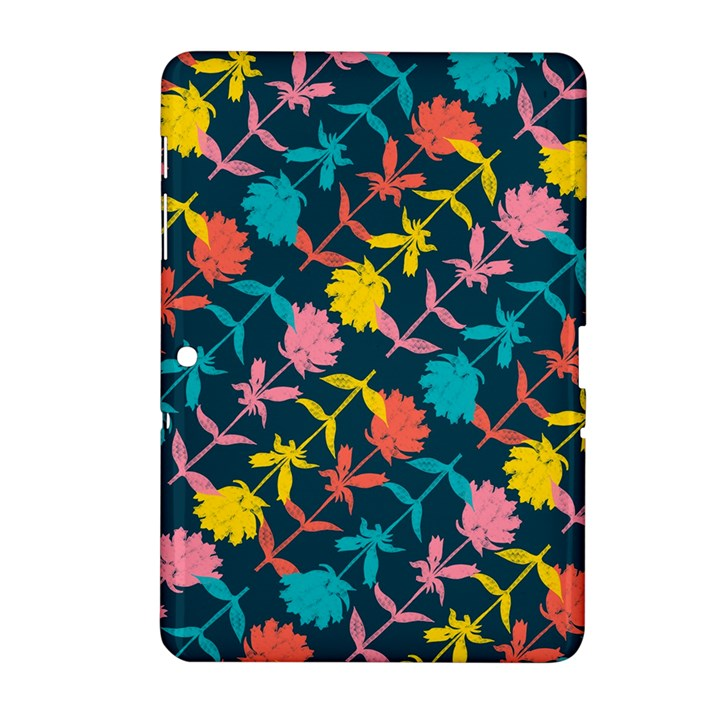 Colorful Floral Pattern Samsung Galaxy Tab 2 (10.1 ) P5100 Hardshell Case