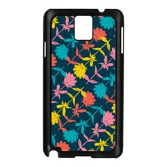 Colorful Floral Pattern Samsung Galaxy Note 3 N9005 Case (black) by DanaeStudio