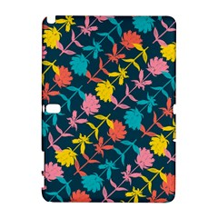 Colorful Floral Pattern Samsung Galaxy Note 10 1 (p600) Hardshell Case by DanaeStudio