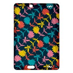 Colorful Floral Pattern Amazon Kindle Fire Hd (2013) Hardshell Case by DanaeStudio