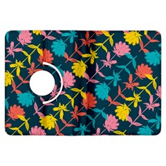 Colorful Floral Pattern Kindle Fire Hdx Flip 360 Case by DanaeStudio