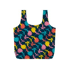 Colorful Floral Pattern Full Print Recycle Bags (S)