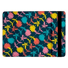Colorful Floral Pattern Samsung Galaxy Tab Pro 12 2  Flip Case