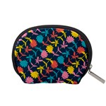 Colorful Floral Pattern Accessory Pouches (Small)  Back