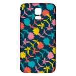 Colorful Floral Pattern Samsung Galaxy S5 Back Case (White) Front