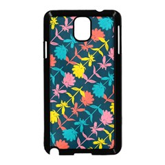 Colorful Floral Pattern Samsung Galaxy Note 3 Neo Hardshell Case (black) by DanaeStudio