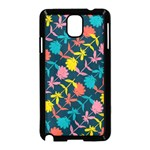 Colorful Floral Pattern Samsung Galaxy Note 3 Neo Hardshell Case (Black) Front