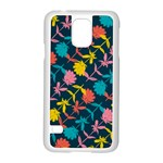 Colorful Floral Pattern Samsung Galaxy S5 Case (White) Front