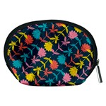 Colorful Floral Pattern Accessory Pouches (Medium)  Back