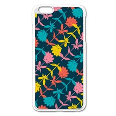 Colorful Floral Pattern Apple Iphone 6 Plus/6s Plus Enamel White Case by DanaeStudio