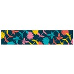 Colorful Floral Pattern Flano Scarf (Small)  Front