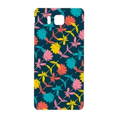 Colorful Floral Pattern Samsung Galaxy Alpha Hardshell Back Case by DanaeStudio
