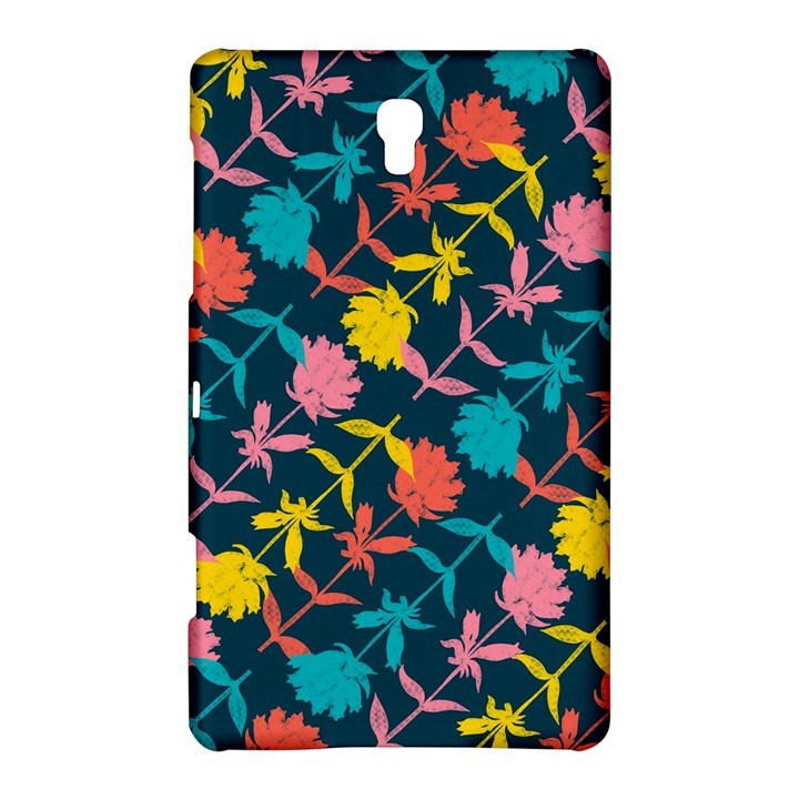 Colorful Floral Pattern Samsung Galaxy Tab S (8.4 ) Hardshell Case