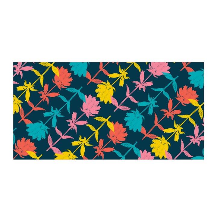Colorful Floral Pattern Satin Wrap