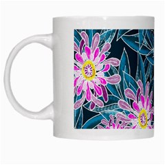 Whimsical Garden White Mugs by DanaeStudio