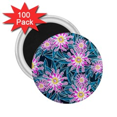 Whimsical Garden 2 25  Magnets (100 Pack)  by DanaeStudio