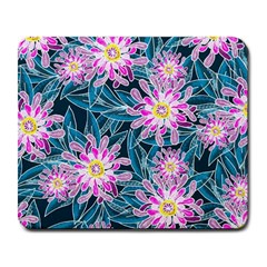 Whimsical Garden Large Mousepads by DanaeStudio
