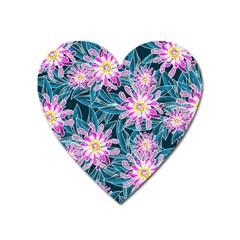 Whimsical Garden Heart Magnet