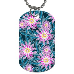 Whimsical Garden Dog Tag (one Side)
