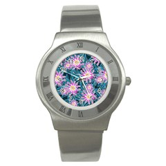Whimsical Garden Stainless Steel Watch by DanaeStudio