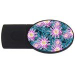 Whimsical Garden USB Flash Drive Oval (4 GB)  Front