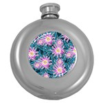 Whimsical Garden Round Hip Flask (5 oz) Front
