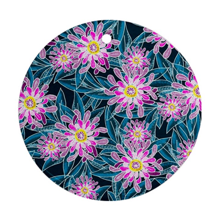Whimsical Garden Round Ornament (Two Sides)