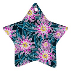 Whimsical Garden Star Ornament (two Sides)  by DanaeStudio