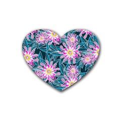 Whimsical Garden Rubber Coaster (Heart)