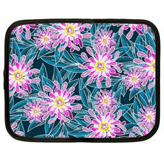 Whimsical Garden Netbook Case (large) by DanaeStudio