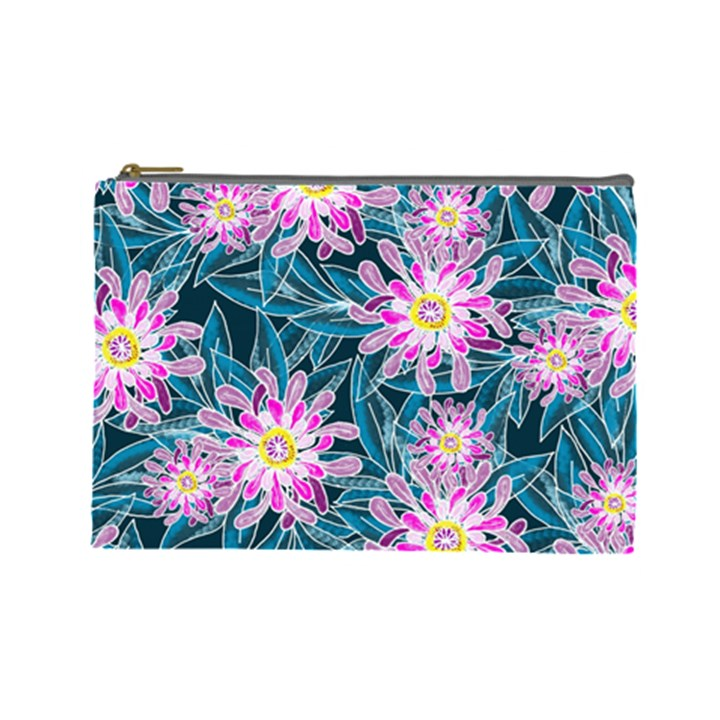 Whimsical Garden Cosmetic Bag (Large)