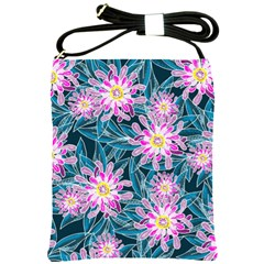 Whimsical Garden Shoulder Sling Bags by DanaeStudio