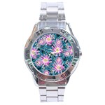 Whimsical Garden Stainless Steel Analogue Watch Front
