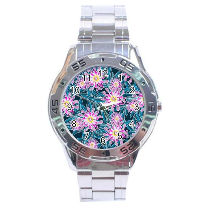 Whimsical Garden Stainless Steel Analogue Watch