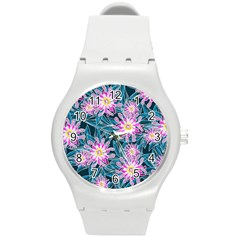 Whimsical Garden Round Plastic Sport Watch (m) by DanaeStudio