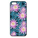 Whimsical Garden Apple iPhone 5 Seamless Case (Black) Front