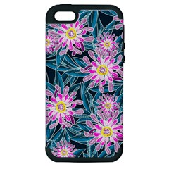 Whimsical Garden Apple Iphone 5 Hardshell Case (pc+silicone) by DanaeStudio
